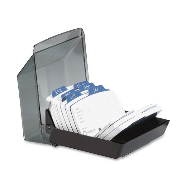 Rolodex 9-Divider Covered Petite Card File