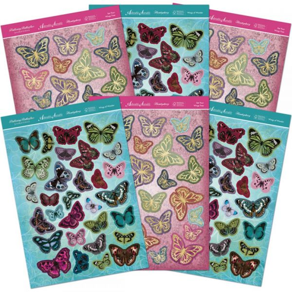 Hunkydory Flight Of The Butterflies Jewelled A4 Die-Cuts