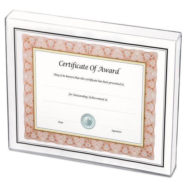 NuDell Un-Frame Box Photo Frame, Plastic, 8-1/2 x 11, Clear