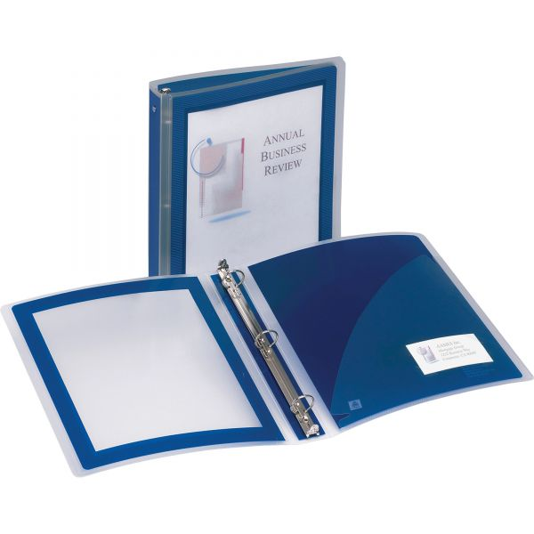 """Avery Flexi-View 1 1/2"""" 3-Ring View Binder"""