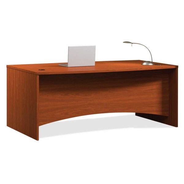 Mayline Brighton Bow Front Desk Shell