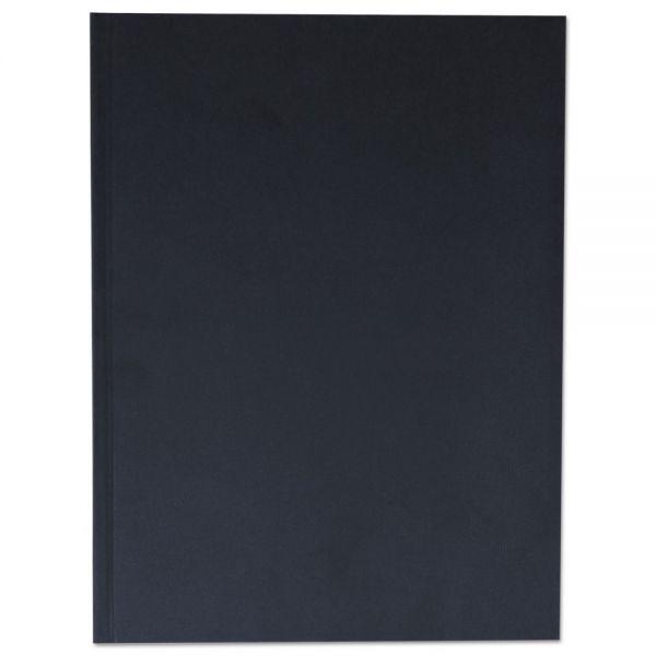 Universal Casebound Hardcover Notebook, 10 1/4 x 7 5/8, Black Linen