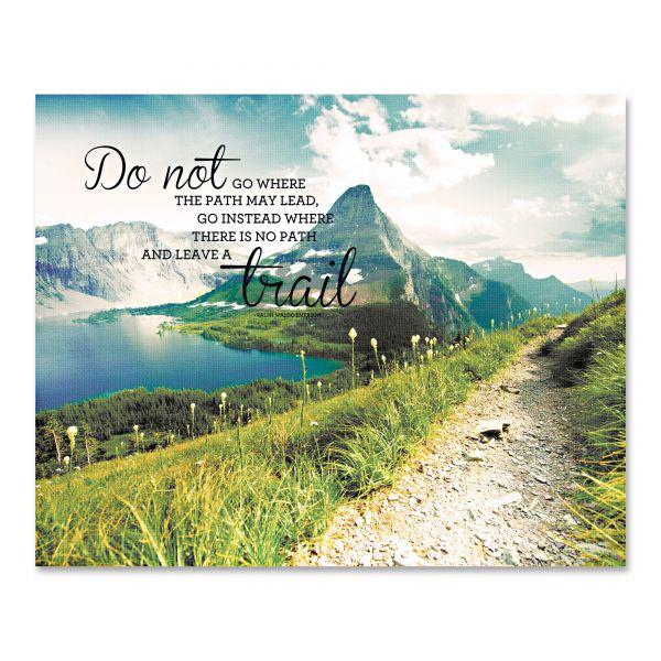 """Advantus """"Leave a Trail"""" Vintage Canvas Motivational Print, 22 x 28"""