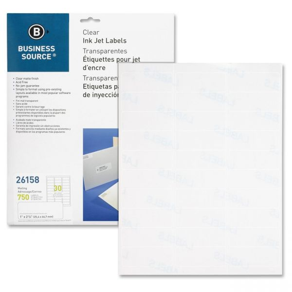 Business Source Premium Clear Address Labels