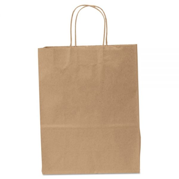 General Heavy-Duty Brown Paper Shopping Bags with Handles