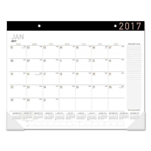 AT-A-GLANCE Contemporary Monthly Desk Pad Calendar