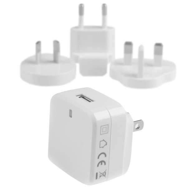 StarTech.com Travel USB Wall Charger - White - Quick Charge 2.0 - Travel Adapter - International Power Adapter - Travel Charger