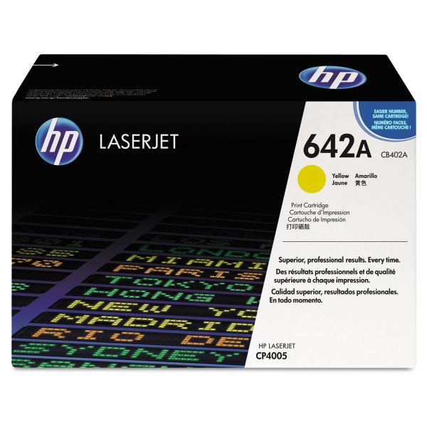 HP 642A Yellow Toner Cartridge (CB402A)