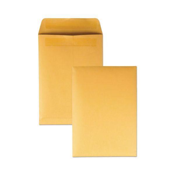 Quality Park Redi Seal Catalog Envelope, 7 1/2 x 10 1/2, Brown Kraft, 250/Box