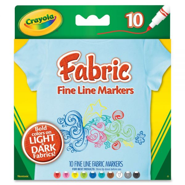 Crayola Fabric Fine Line Markers