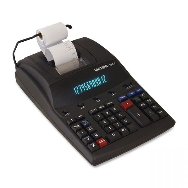 Victor 1280-7 Heavy Duty Printing Calculator with USB Connectivity