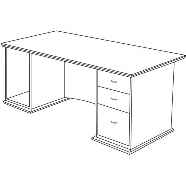 Lorell Contemporary 9000 Pedestal Desk