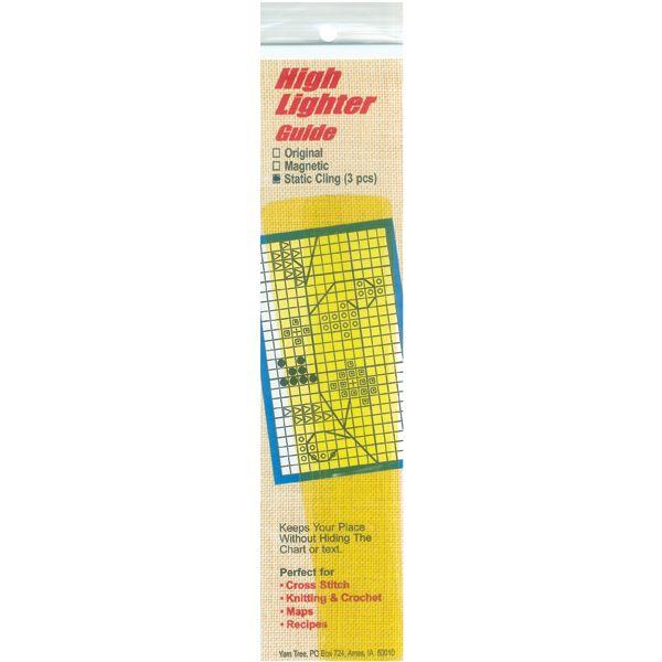 """Static Cling High Lighter Guides 6""""X1"""" 3/Pkg"""