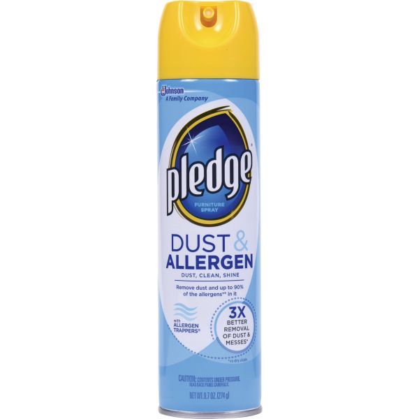 Pledge Dust and Allergen Furniture Spray, 9.7 oz