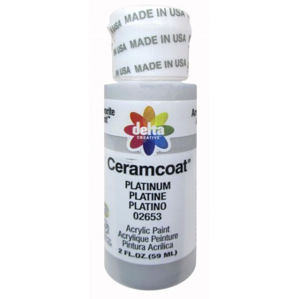 Ceramcoat Gleams Platinum Acrylic Paint