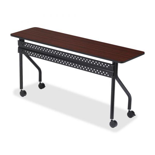 Iceberg OfficeWorks Mobile Training Table, Rectangular, 72w x 18d x 29h, Mahogany/Black