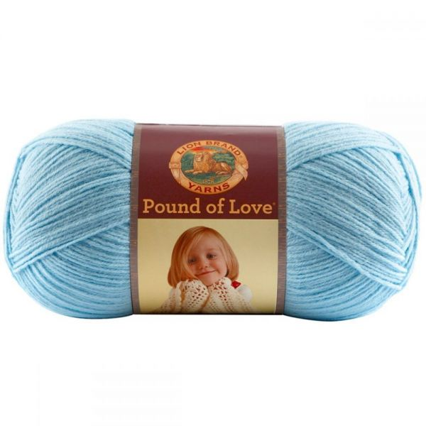 Lion Brand Pound Of Love Yarn - Pastel Blue
