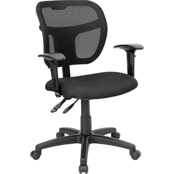 Flash Furniture Mid-Back Swivel Task Chair with Height Adjustable Arms
