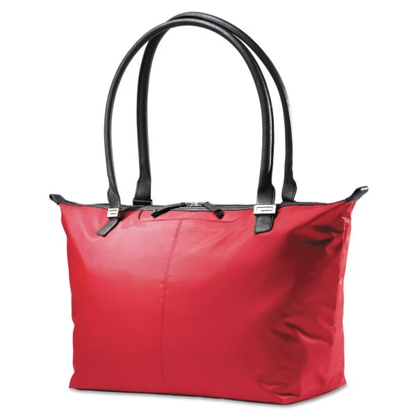 Samsonite Jordyn Ladies Laptop Bag, 21 1/4 x 7 1/2 x 12, Nylon Red