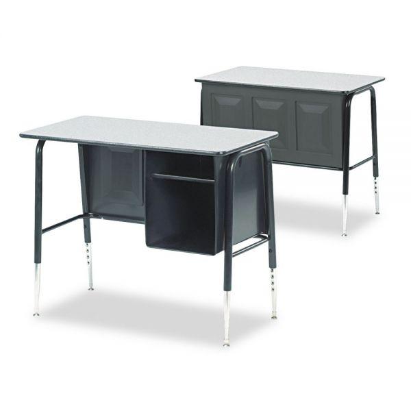 Virco Junior Executive Desk with Book Compartment