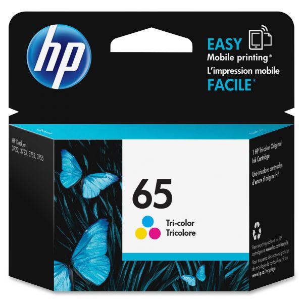 HP 65 Tri-Color Ink Cartridge (N9K01AN)