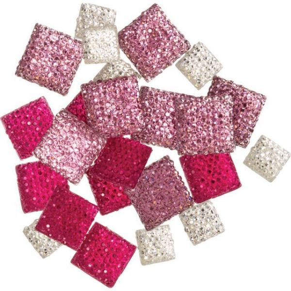 DIY Accessories Glitter Gemstones 24/Pkg