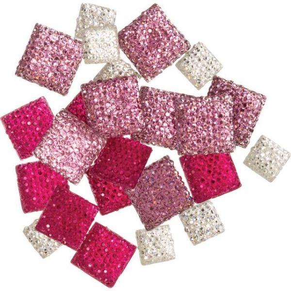 DIY Accessories Glitter Gemstones 24/Pkg