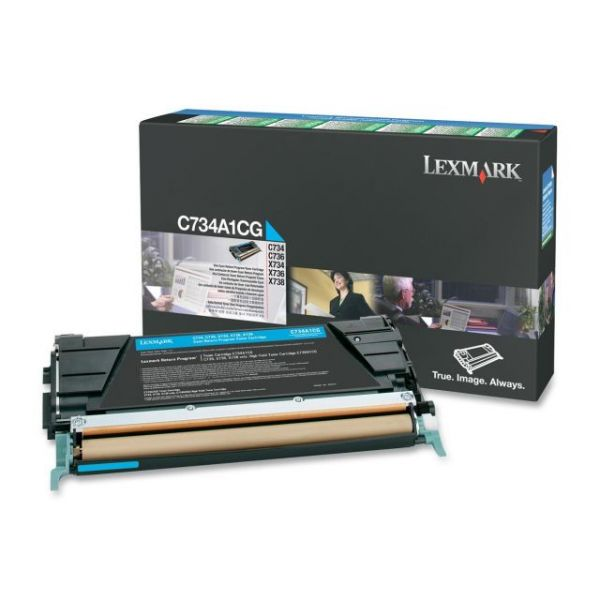 Lexmark C734A1CG Cyan Return Program Toner Cartridge