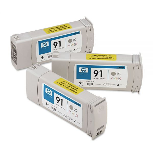 HP 91 Light Gray Ink Cartridges (C9482A)