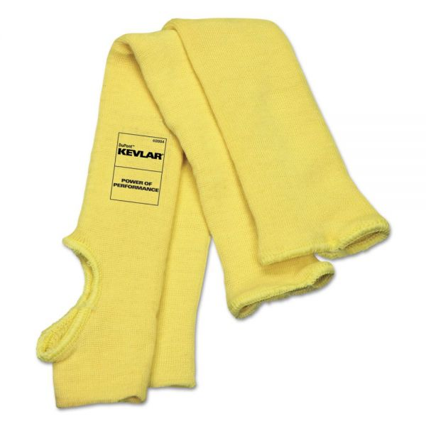 MCR Safety Economy Series DuPont Kevlar Fiber Sleeves, One Size Fits All, Yellow, 1 Pair