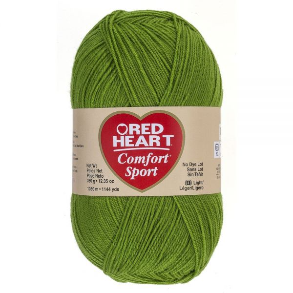 Red Heart Comfort Sport Yarn - Guacamole