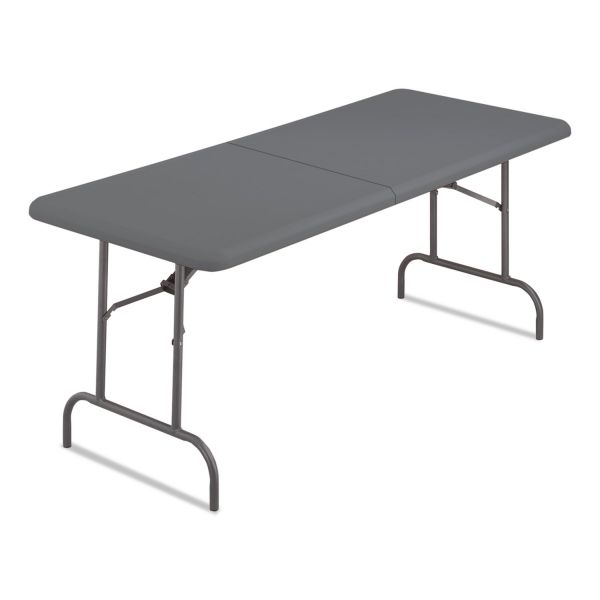 Iceberg IndestrucTables Too Bifold Resin Folding Table, 60w x 30d x 29h, Charcoal