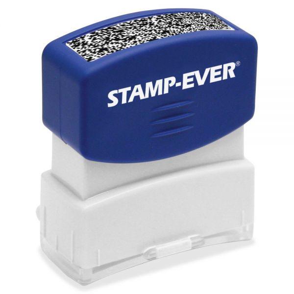 U.S. Stamp & Sign Pre-inked Security Block Stamp