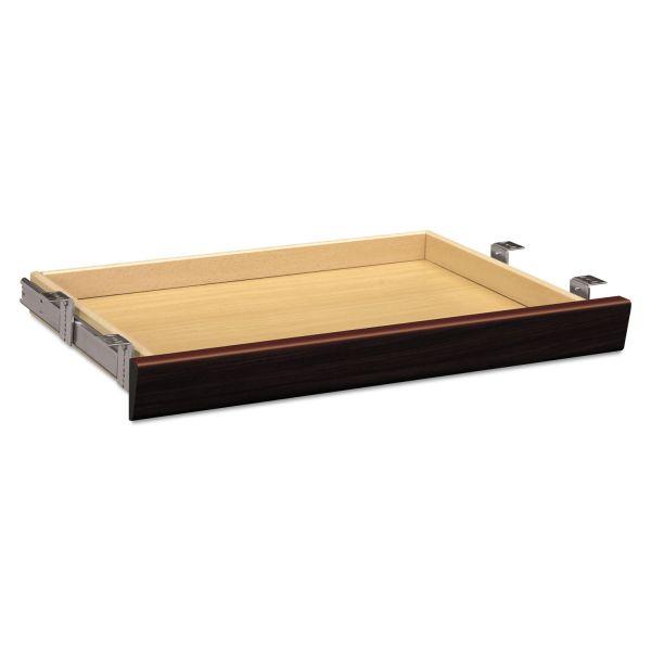 HON Laminate Angled Center Drawer, 26w x 15 3/8d x 2 1/2h, Mahogany