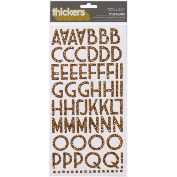 """Thickers Chipboard Glitter Stickers 6""""X11"""" Sheets 2/Pkg"""