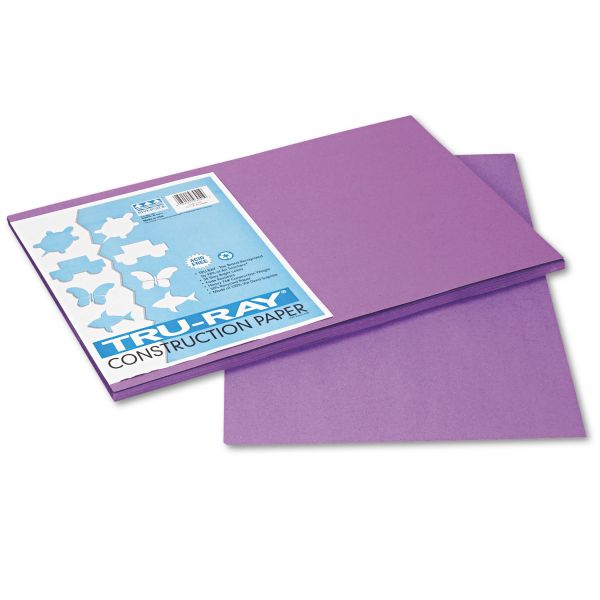 Tru-Ray Heavyweight Purple Construction Paper