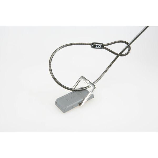Kensington Desk Mount Cable Anchor, Gray/White