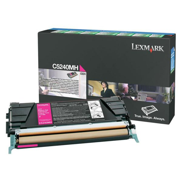 Lexmark C5240MH Magenta High Yield Return Program Toner Cartridge