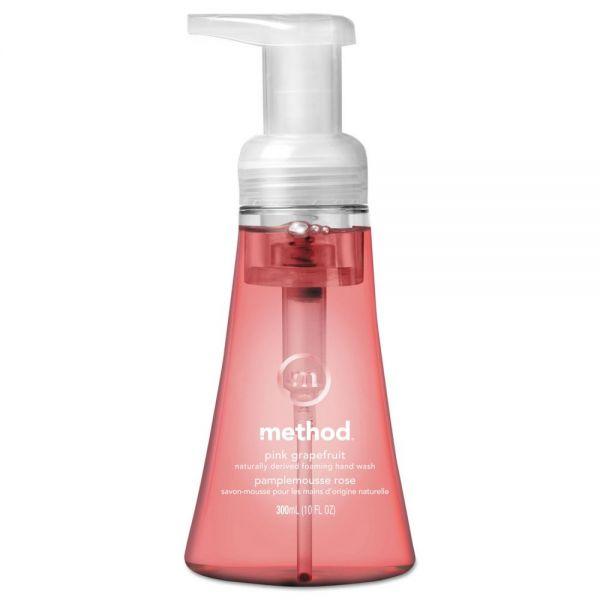 Method Foaming Hand Wash, Pink Grapefruit, 10 oz Pump Bottle