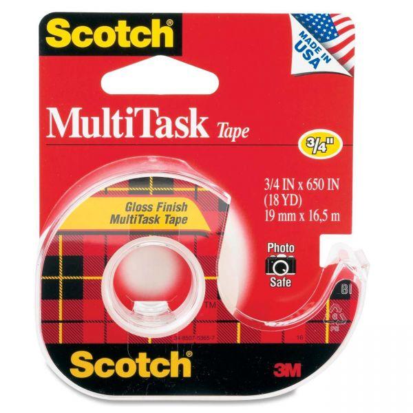 "Scotch MultiTask 3/4"" Transparent Tape"