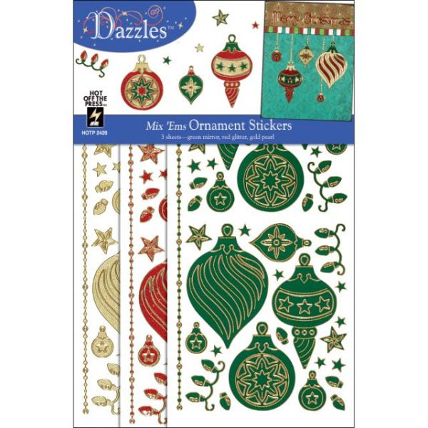Dazzles Stickers Mix 'Ems Tricolor 3/Pkg