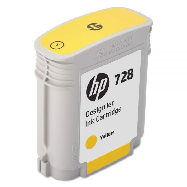 HP 728 Yellow Ink Cartridge (F9J61A)