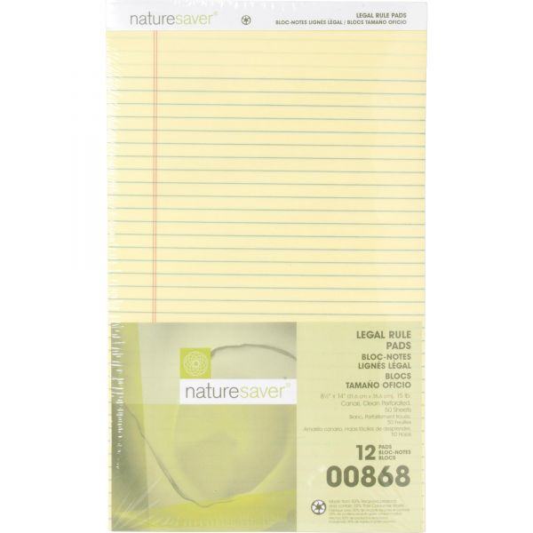 Nature Saver 100% Recycled Legal Pads