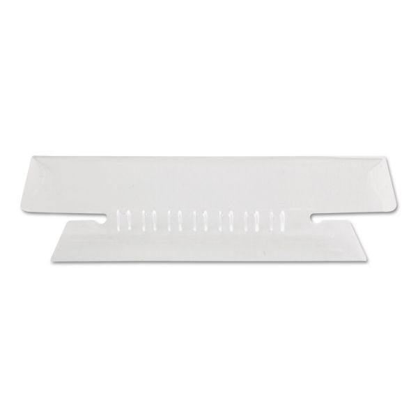 Pendaflex Hanging File Folder Tabs, 1/3 Tab, 3 1/2 Inch, Clear Tab/White Insert, 25/Pack