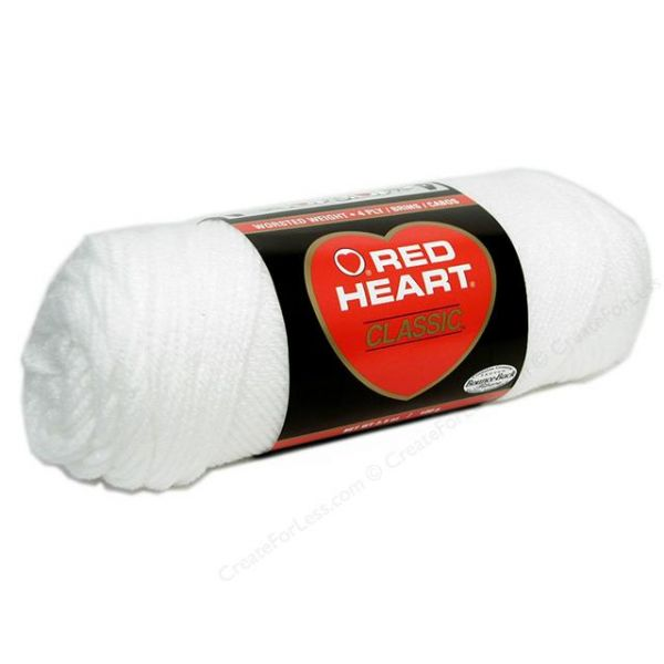 Red Heart Classic Yarn - White