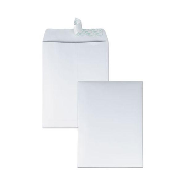 Quality Park Redi Strip Catalog Envelope, 9 1/2 x 12 1/2, White, 100/Box