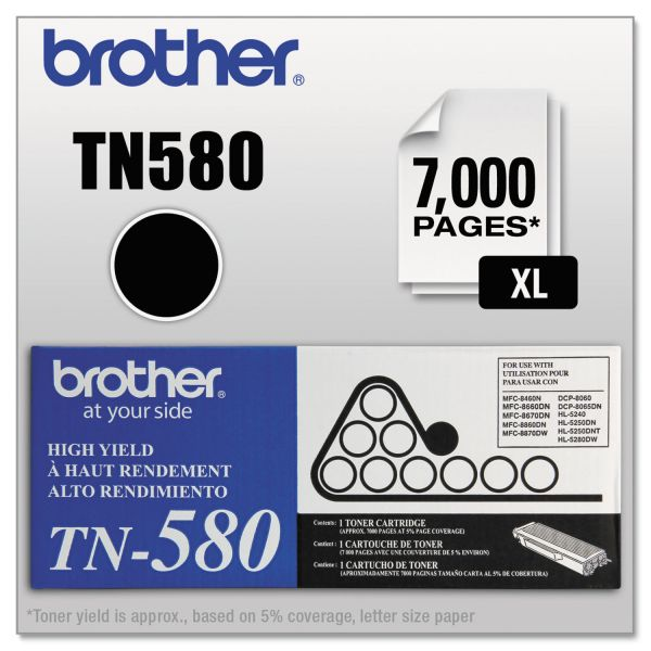 Brother TN-580 High Yield Toner Cartridge