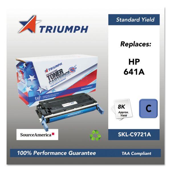 SKILCRAFT Remanufactured HP 641A (C9721A) Cyan Toner Cartridge