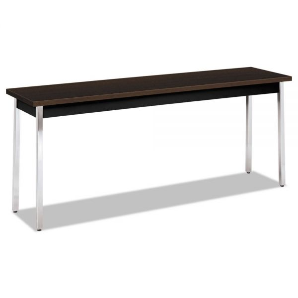 HON Utility Table, Rectangular, 72w x 18d x 29h, Mocha/Black