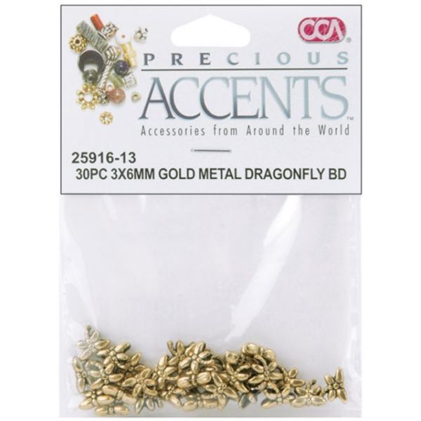 Precious Accents Gold-Plated Metal Beads & Findings